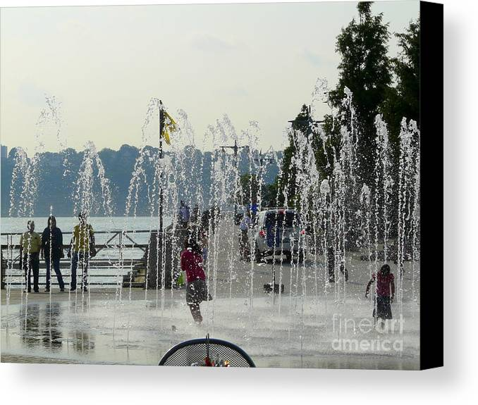 Summertime Canvas Print featuring the photograph Cooling Off by Avis Noelle