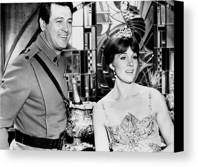 1970 Movies Canvas Print featuring the photograph Darling Lili, From Left, Rock Hudson by Everett