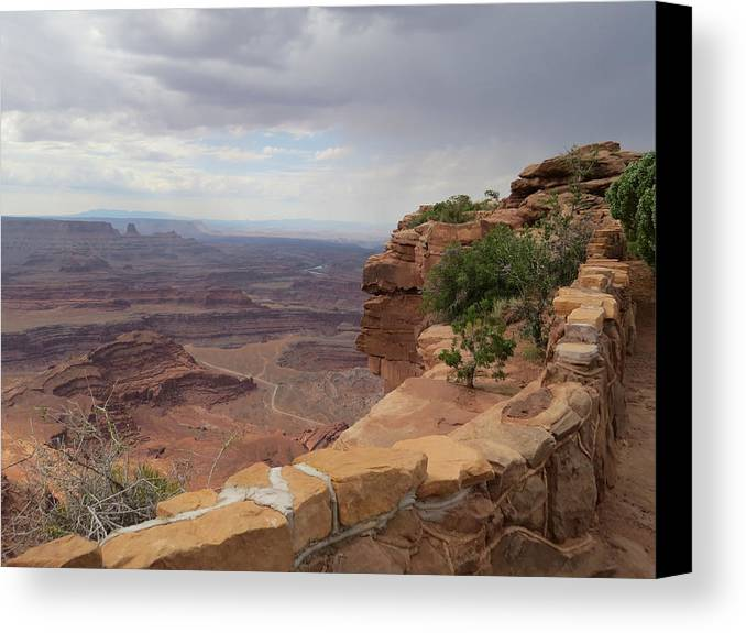 Dead Horse Point Canvas Print featuring the photograph Dead Horse Point West by Douglas Martin