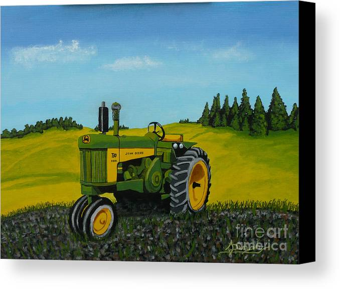 John Deere Canvas Print featuring the painting Dear John by Anthony Dunphy