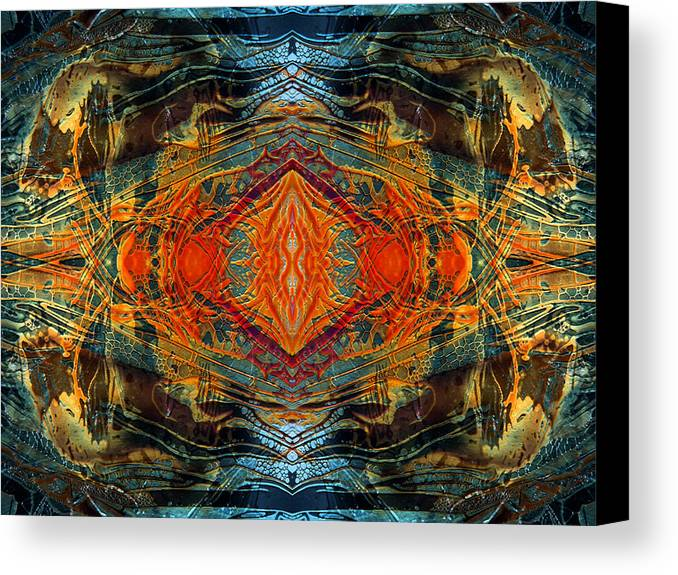 Surrealism Canvas Print featuring the digital art Decalcomaniac Intersection 2 by Otto Rapp