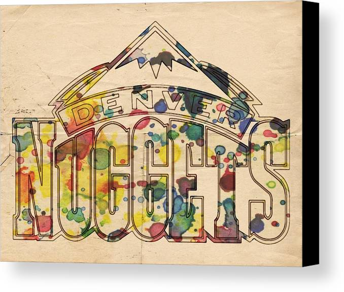 Denver Nuggets Canvas Print featuring the painting Denver Nuggets Poster Art by Florian Rodarte