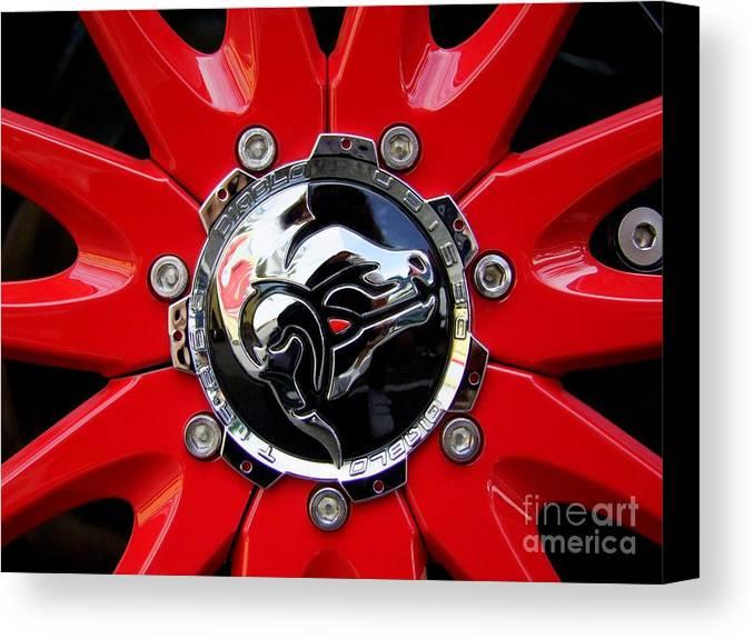 Diablo Canvas Print featuring the photograph Diablo Wheel Hub by Mary Deal