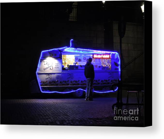 Night Canvas Print featuring the photograph Dr. Fafafel by Brandi Moore