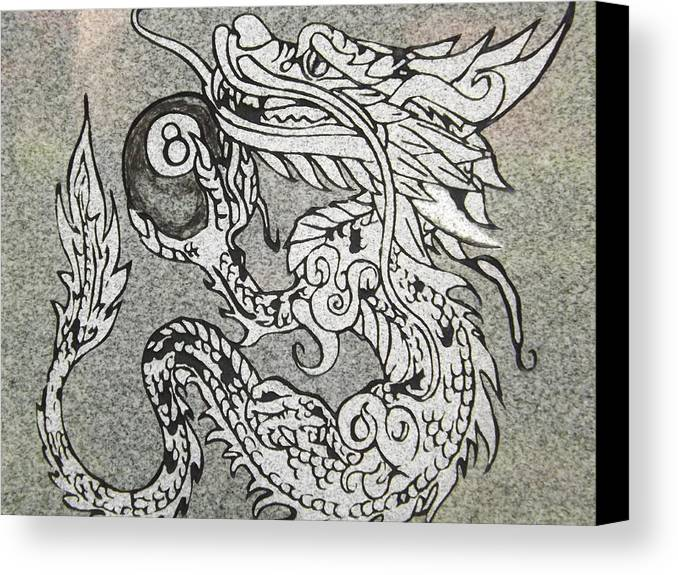 Billiards Canvas Print featuring the photograph Dragon And The 8 by Dennis Pintoski