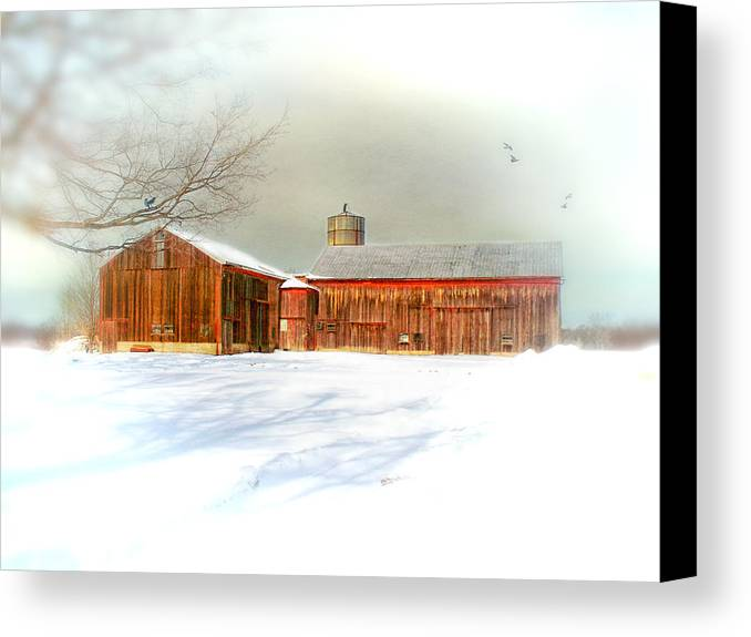Dreamy Canvas Print featuring the photograph Dreams Of A White Christmas by Mary Timman