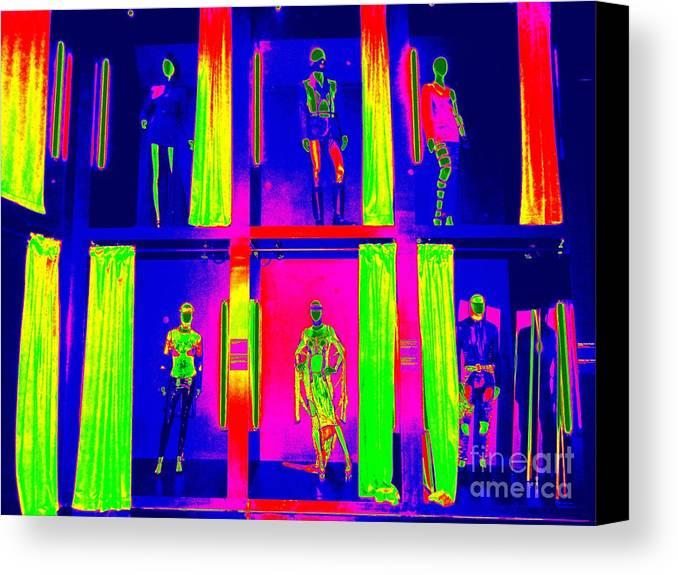 Fashion Canvas Print featuring the digital art Dressing Room Divas by Ed Weidman