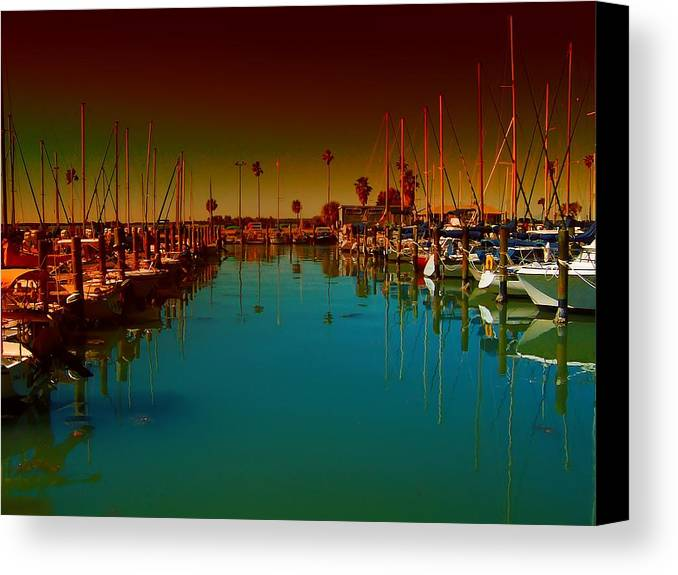 Florida Canvas Print featuring the photograph Dunedin Marina by Bill Cannon