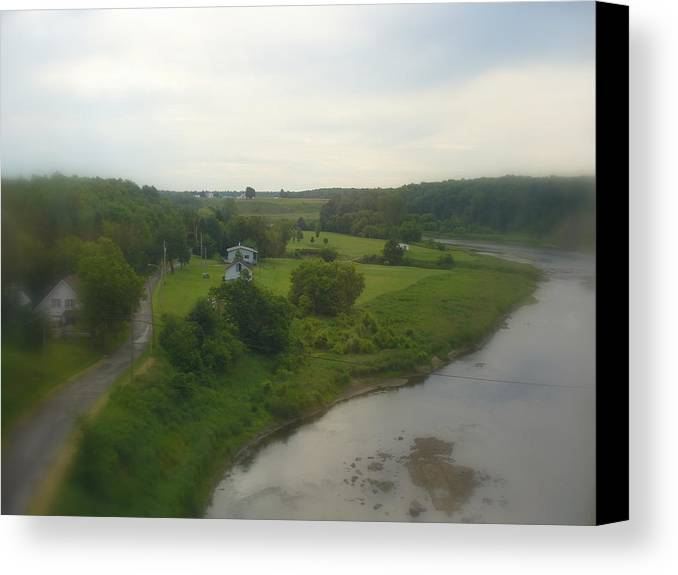 Landscape Photography Canvas Print featuring the photograph Early Morning In The Countryside Of Quebec by Lingfai Leung