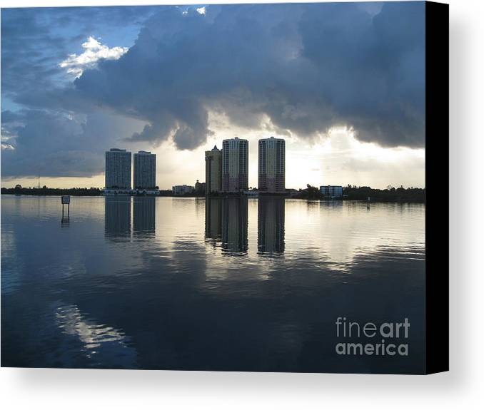 Reflection Canvas Print featuring the photograph Early Morning Reflection by Alice Brunner