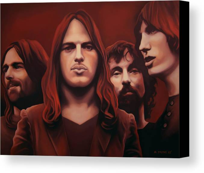 Pink Floyd Canvas Print featuring the painting Echoes by Michael Payne