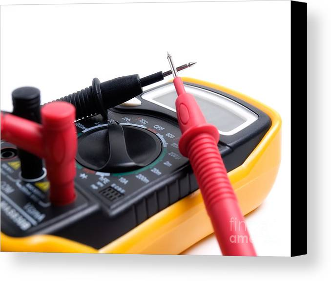 Multimeter Canvas Print featuring the photograph Electric Multimeter by Sinisa Botas