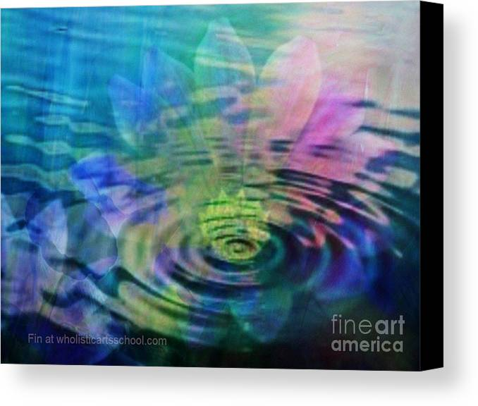 Ripple Canvas Print featuring the painting Energy Ripples by PainterArtist FIN