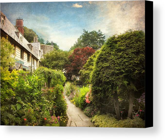 Garden Canvas Print featuring the photograph English Garden by Jessica Jenney