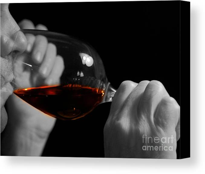 Beverage Canvas Print featuring the photograph Enjoying Wine by Patricia Hofmeester