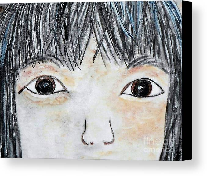 Big Canvas Print featuring the painting Eyes Of Love by Eloise Schneider