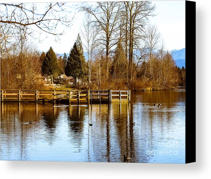 Lake Canvas Print featuring the photograph F2110940 by David Fabian