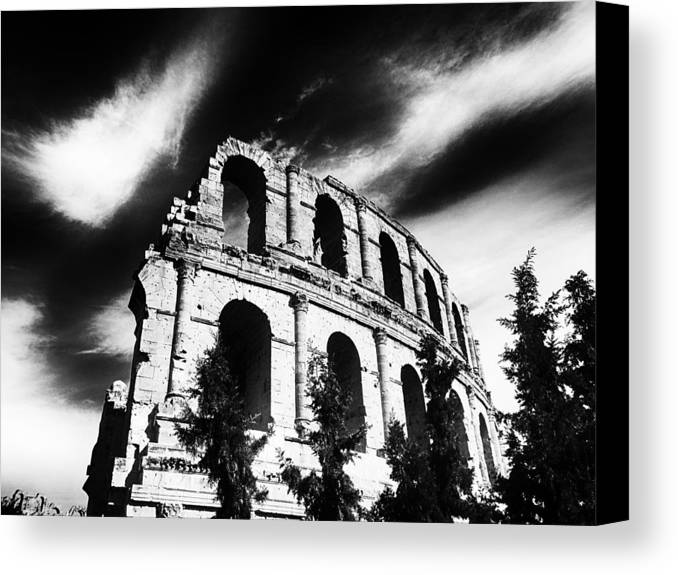 Architectur Canvas Print featuring the painting Facing Time by Dhouib Skander