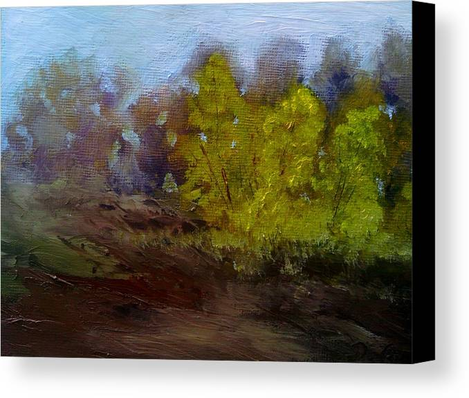 Landscape Canvas Print featuring the painting Fall Color by Dwayne Gresham