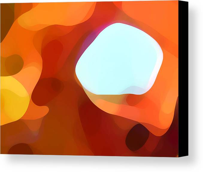 Abstract Canvas Print featuring the painting Fall Passage by Amy Vangsgard