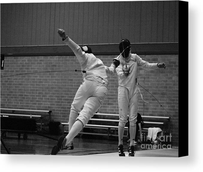 Epee Fencing Canvas Print featuring the photograph F For Fleche by Luke Tung