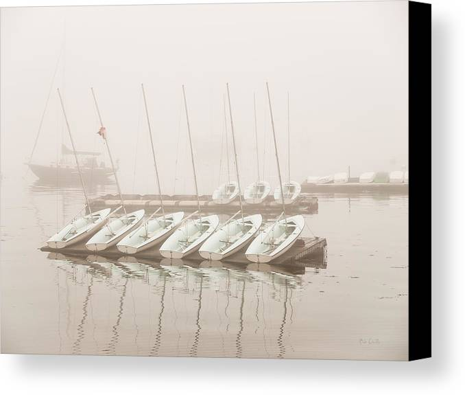 Seascape Canvas Print featuring the photograph Fogged In Again by Bob Orsillo
