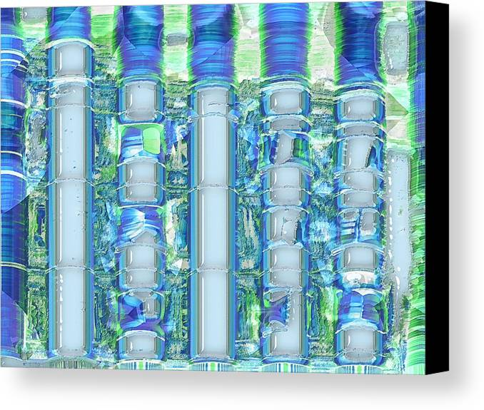 Abstract Canvas Print featuring the digital art Freeze Warning by Wendy J St Christopher