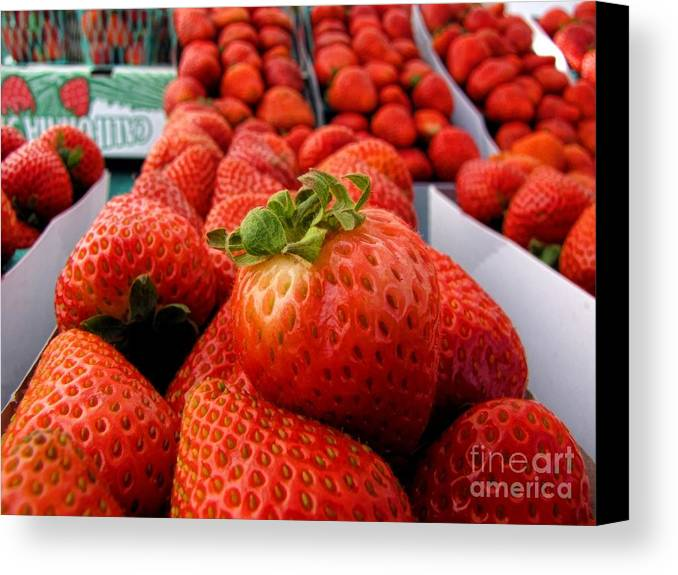 Fruit Canvas Print featuring the photograph Fresh Strawberries by Peggy Hughes