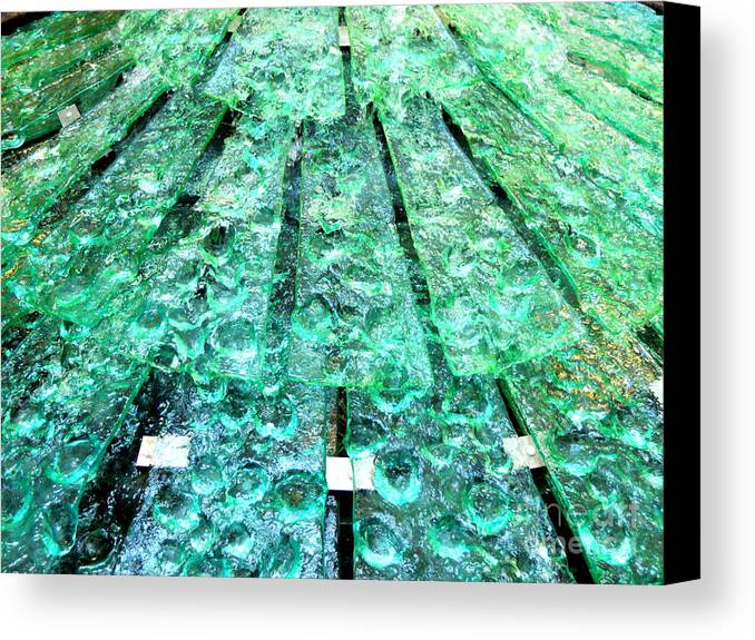 Water Canvas Print featuring the photograph Glass Fountain by Tracy Evans