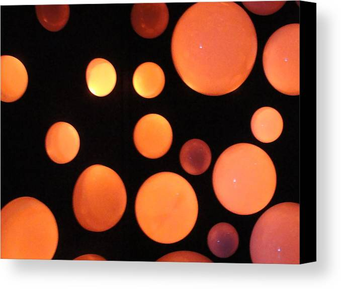 Orange Canvas Print featuring the photograph Glowing Orange by Tiffany Erdman