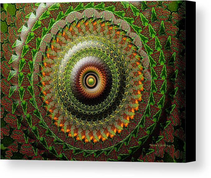 Green Canvas Print featuring the digital art Gold Leaf by Robert Orinski