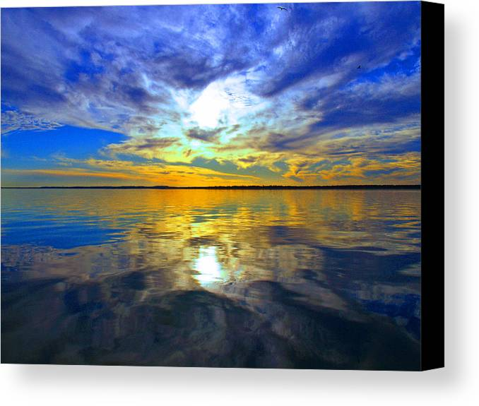 Golden Sunset Canvas Print featuring the photograph Golden Sunset by James Granberry