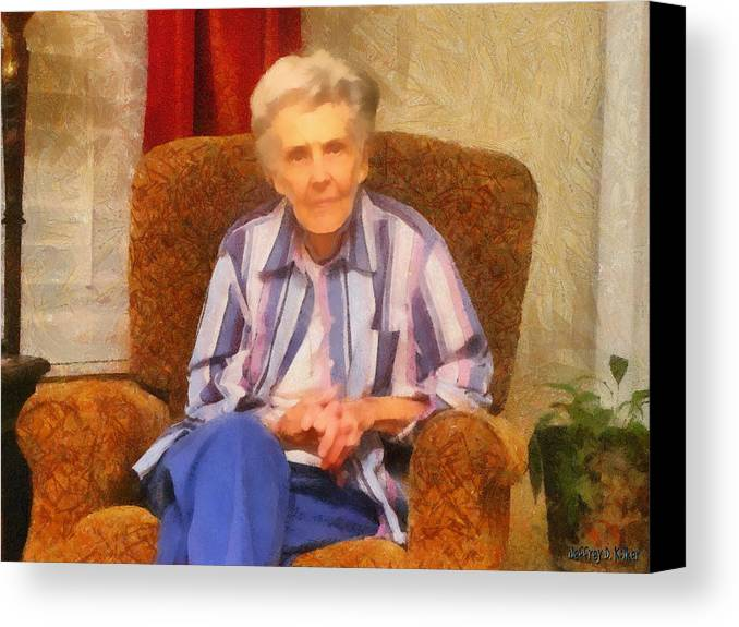 Chair Canvas Print featuring the painting Grandmother by Jeffrey Kolker