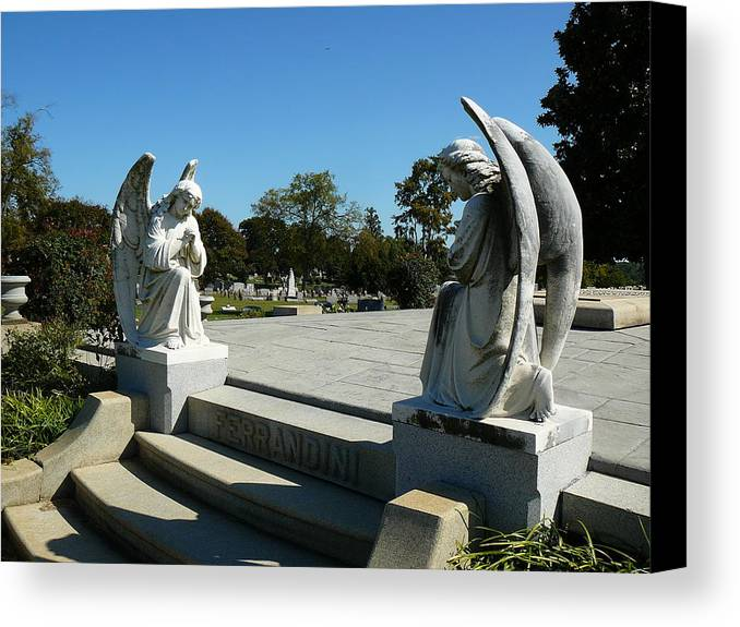 Virginia Canvas Print featuring the photograph Guardian Angels by Two Bridges North
