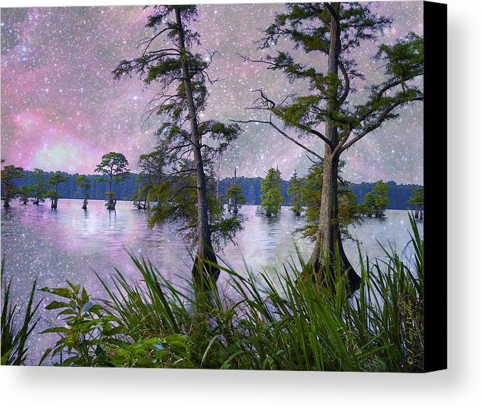 J Larry Walker Canvas Print featuring the digital art Heavenly Sunrise by J Larry Walker