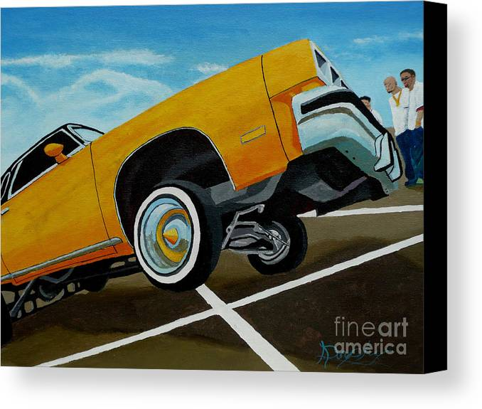 Chevy Canvas Print featuring the painting Hip Hoppin Chevy by Anthony Dunphy