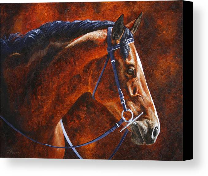 Horse Canvas Print featuring the painting Horse Painting - Ziggy by Crista Forest
