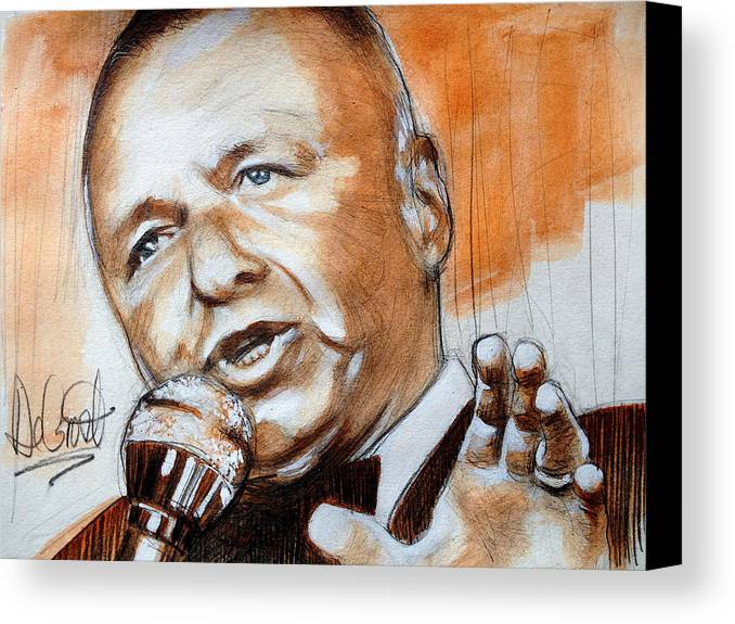 Sinatra Canvas Print featuring the painting Icon Frank Sinatra by Gregory DeGroat