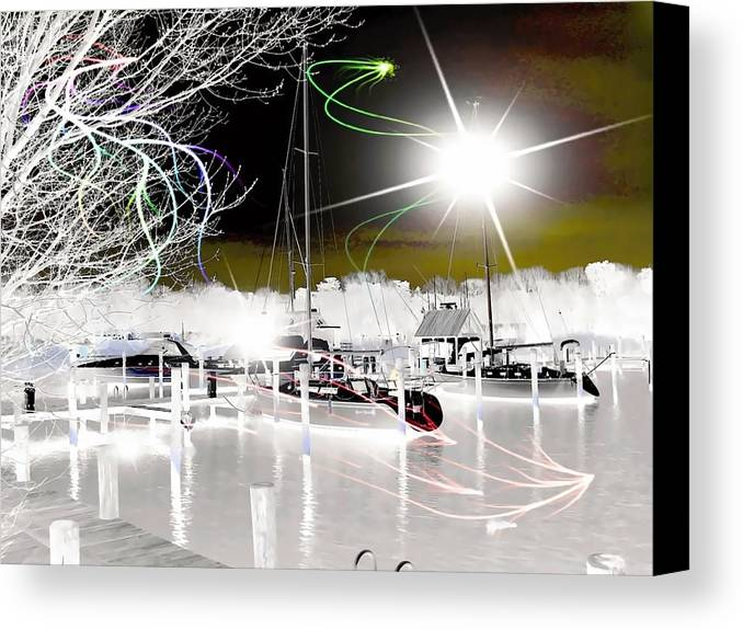 Rick Todaro Artwork Canvas Print featuring the photograph Into The Mystic  by Rick Todaro