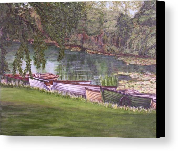 Acrylic Canvas Print featuring the painting Irish Fishing Boats by Cathy McGregor