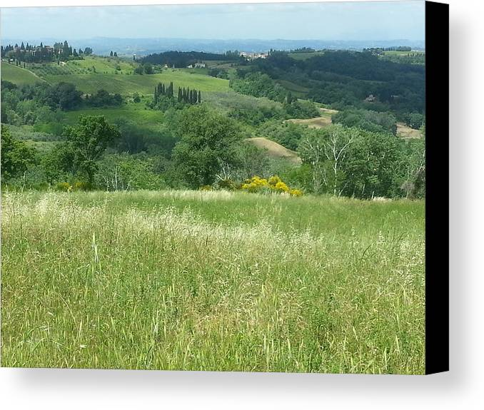 Tuscan Landscape Canvas Print featuring the photograph Italy 3 by Brian McCullough
