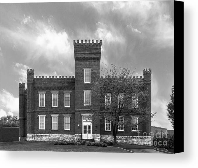 African-american Canvas Print featuring the photograph Kentucky State University Jackson Hall by University Icons