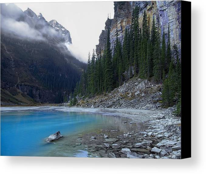 lake Louise Canvas Print featuring the photograph Lake Louise North Shore - Canada Rockies by Daniel Hagerman