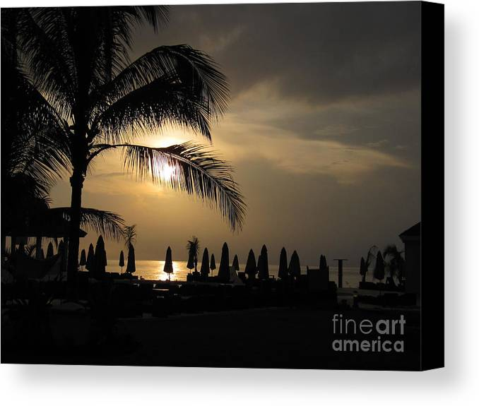 Montego Bay Canvas Print featuring the photograph Late Afternoon In Mobay by Addie Hocynec