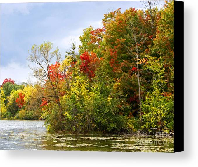 Autumn Canvas Print featuring the photograph Leaning Into Autumn by Ann Horn