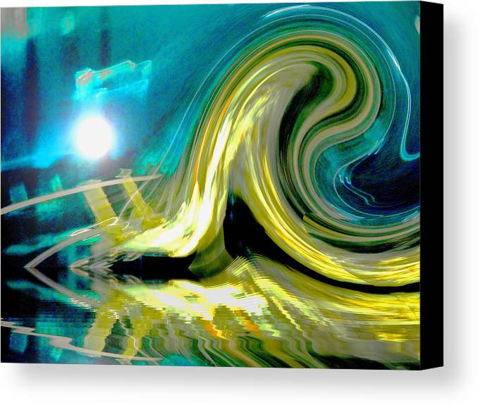 Digital Art Canvas Print featuring the digital art Like A Wave On The Beach by Beto Machado