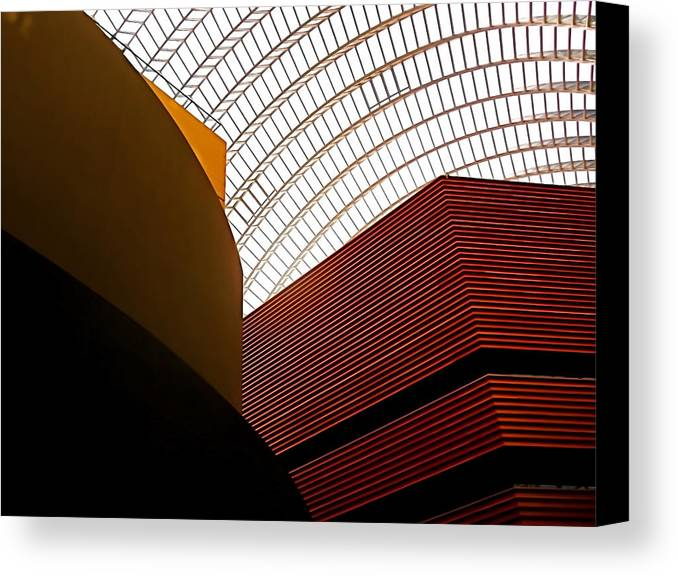 Architecture Canvas Print featuring the photograph Lines And Light by Rona Black