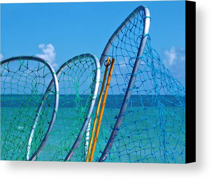 Florida Keys Lobster Catching Tools Canvas Print featuring the photograph Florida Lobster Diving Tools by Ginger Wakem