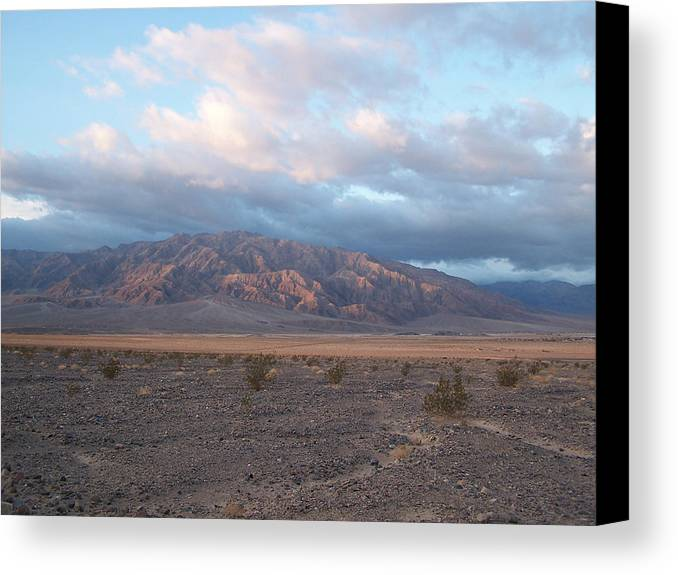 Death Valley Canvas Print featuring the photograph Looking Towards Cotton Wood Canyon by Riki and Allen Colby
