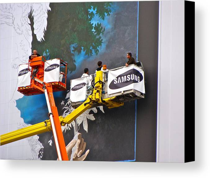 Bill Boards Canvas Print featuring the photograph Making Paris Beautiful by Ira Shander